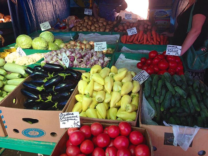цены на рынке на фрукты овощи