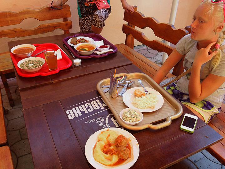 наш семейный обед на 400 р