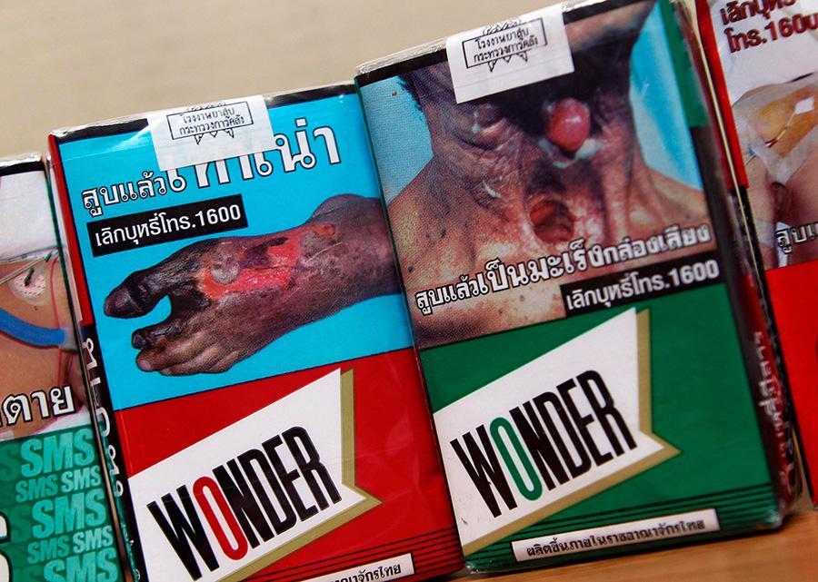 ужасные картинки на сигаретах в тайланде