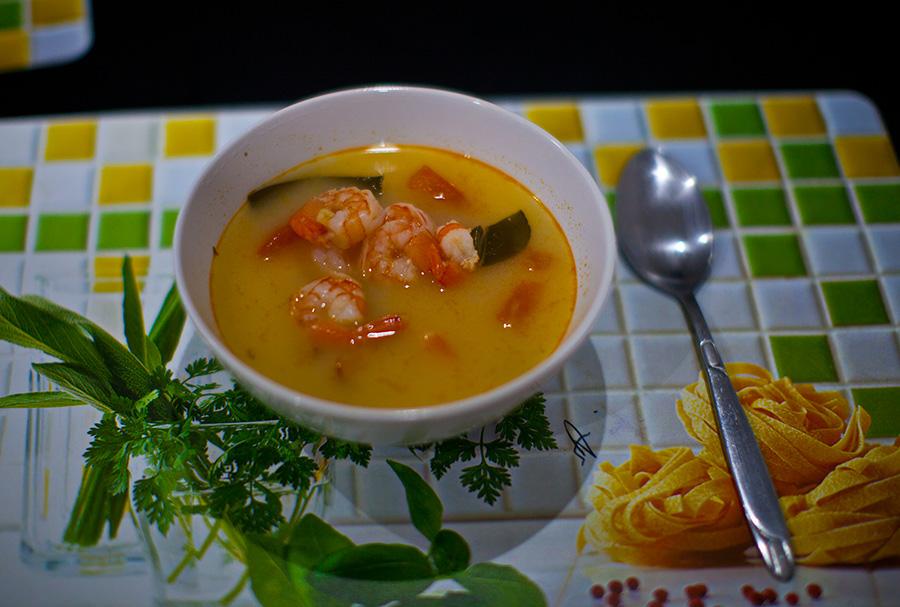 тайский суп том ям рецепт с креветками с кокосовым