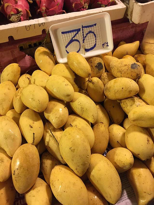 цена на манго на рынке Джомитьена фото