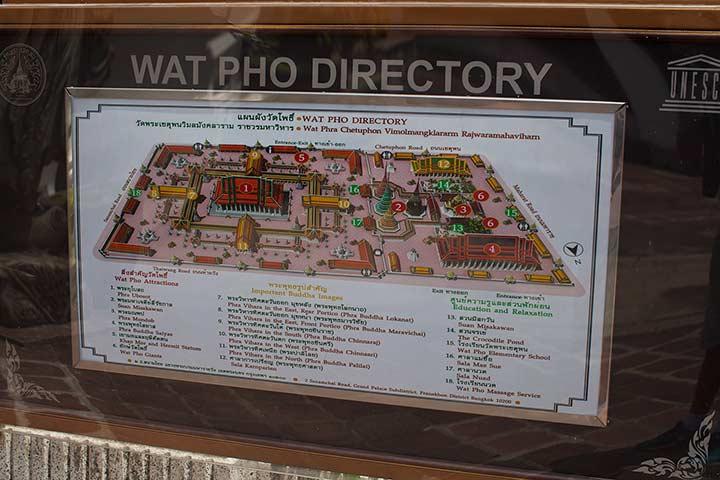 карта храма лежащего будды ват пхо фото