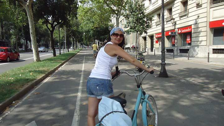 По Барселоне на велосипедах!!