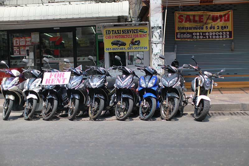 арендовать байки можно везде в Паттайе