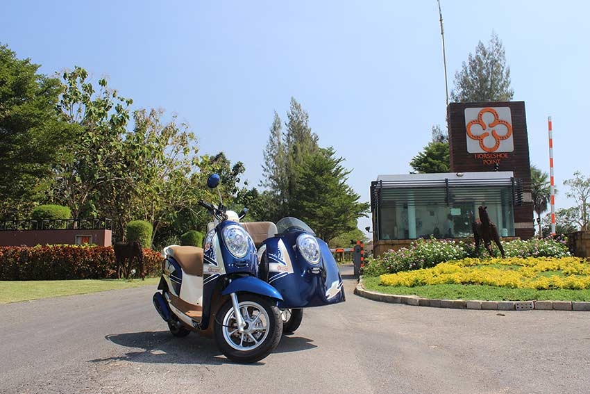 супер мотобайк с коляской в аренду в  Паттайе с