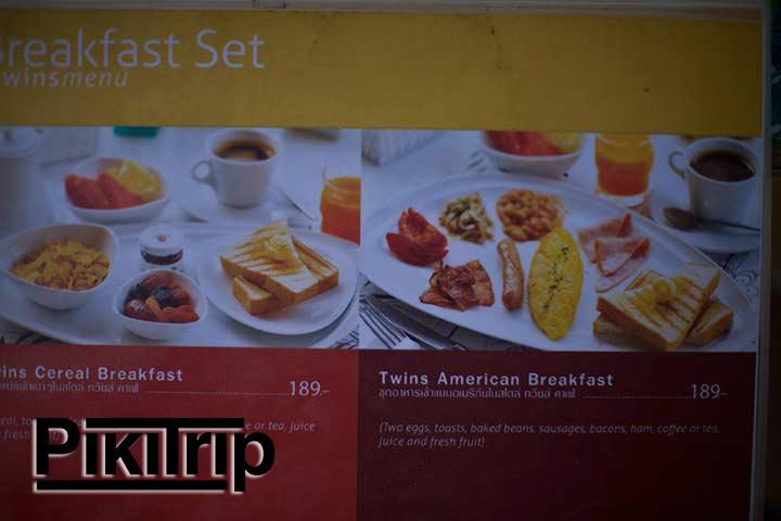 завтраки в кафе Твинс