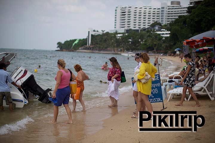 народ с пляжа кози бич едете на Ко Лан