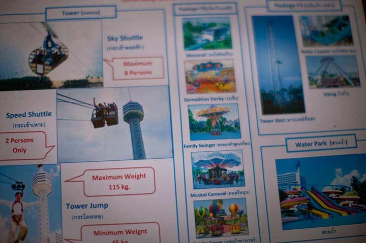 правила спуска с башни Паттайя Парк фото
