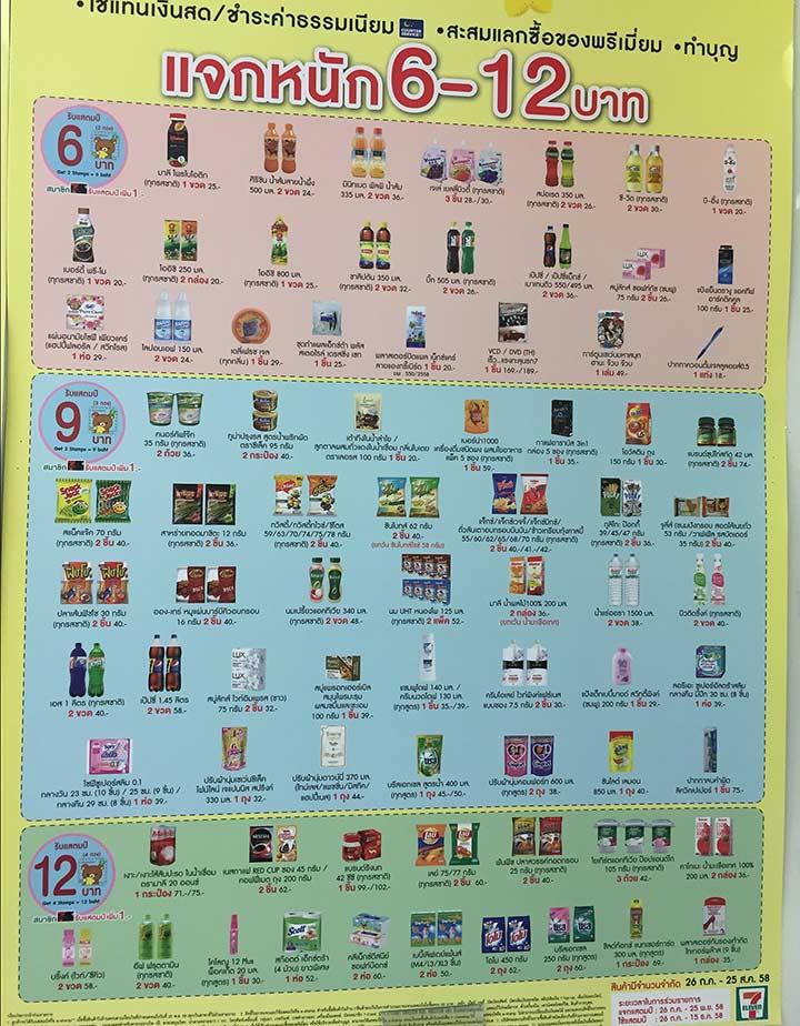 каждую неделю новый список товаров, за которую дают бОльшее количество наклеек