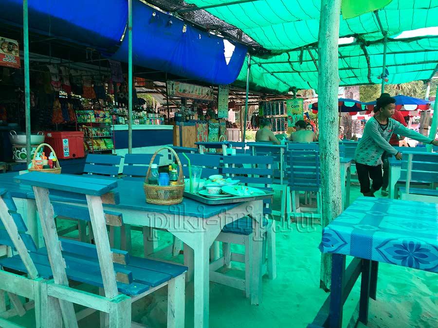 вот так примерно выглядят кафе где кормят туристов на островах