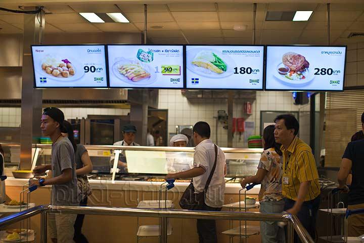 ассортимент блюд в ресторане Икея