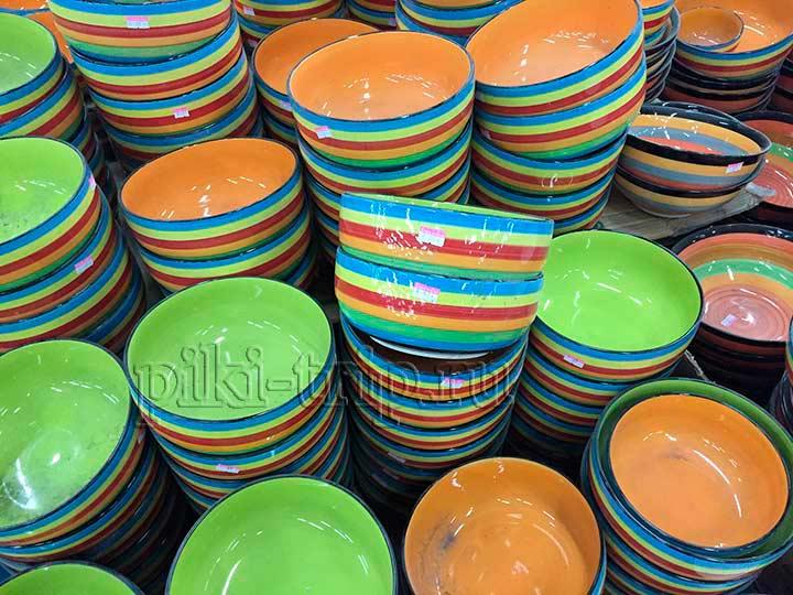 дешевая посуда в Паттайе - фото
