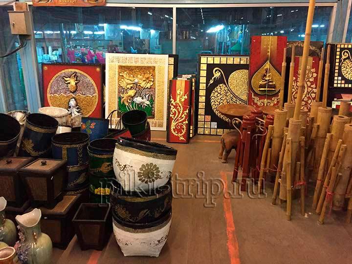 сувениры в Паттайе фото, предметы интерьера, картины