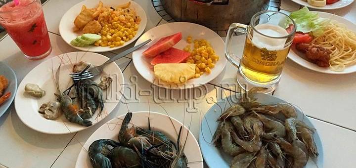 буфет муката шведский стол с морепродуктами за 200 бат в Паттайе
