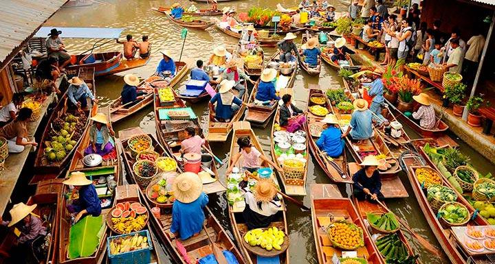 как выглядит плавучий рынок