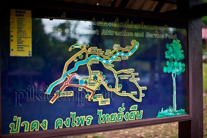 карта сооружений кхао ча мао