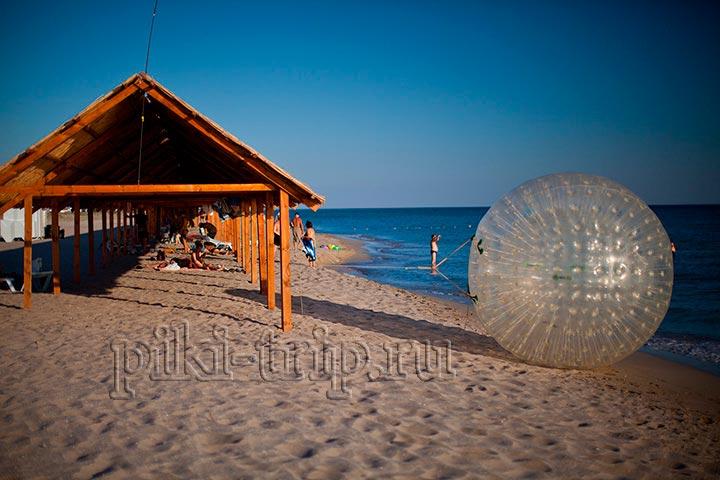 пляж в мирном у евпатории