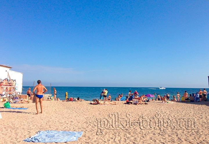 пляж санатория солнечный тоже потихоньку убывает