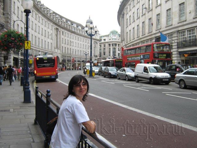 Лондон: Риджент-стрит у метро Picadilly Circus (фото)