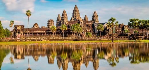 дорого около храма Ангкор Ват закрыта для автомобилей