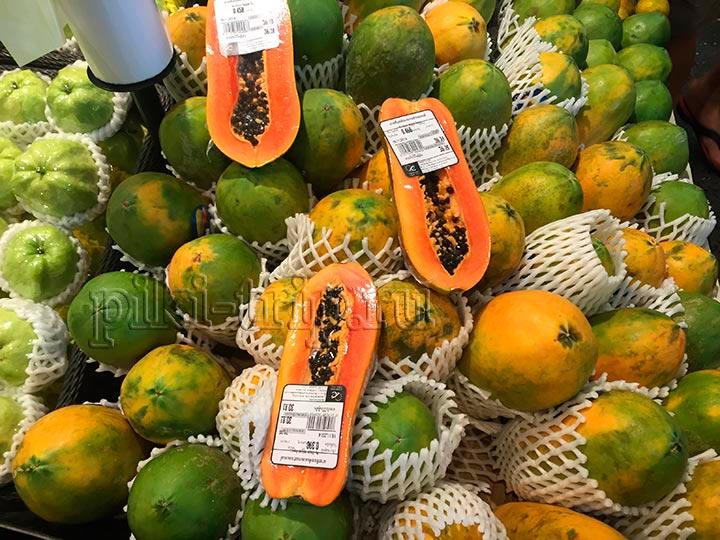 цены на папайю в Тайланде в централ фестивале
