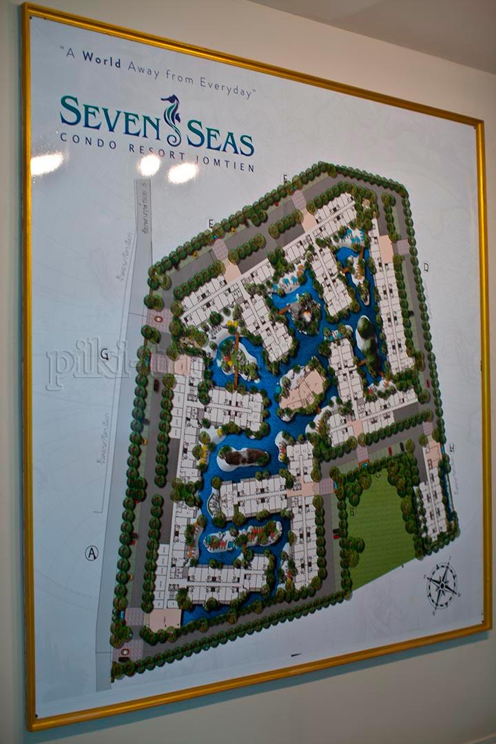 карта проекта семь морей в Паттайе