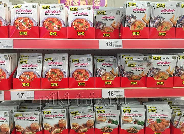 что привезти из Тайланда фото специи соусы пасты