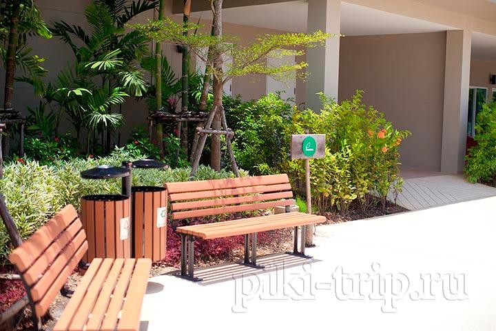 Ramayana-аквапарк Рамаяна в Паттайе - места для курения