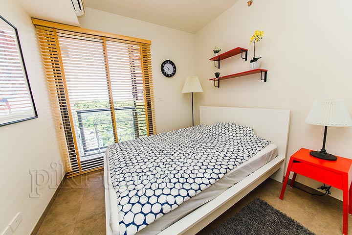 спальня в квартире Юникс 2 бедрум