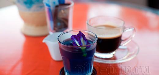 Синий чай в Тайланде фото