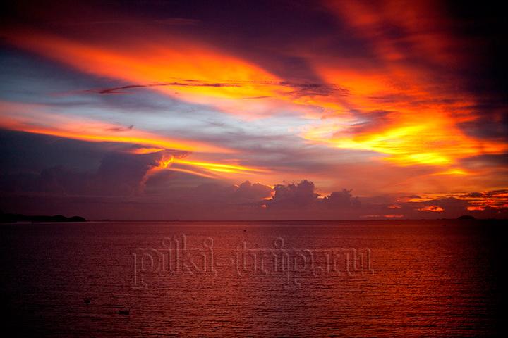 закат в Паттайе сегодня фото