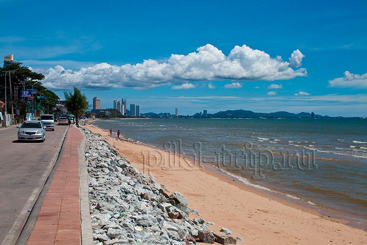 пляж Джомтьен, самый его конец