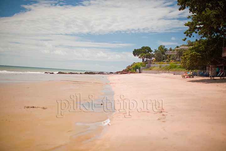 пляж у Азии отеля на Пратамнаке