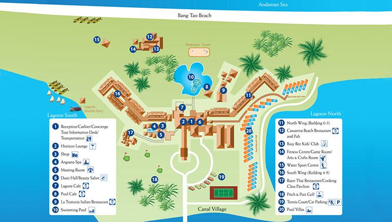 карта отеля Дусит Тани Пхукет