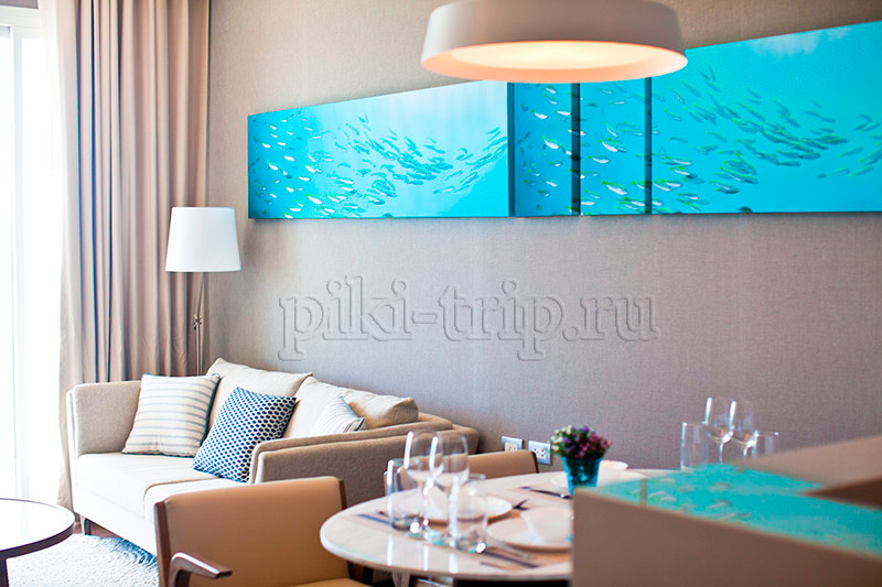 гостиная в 1-бедрум Movenpick Siam Pattaya Hotel 5