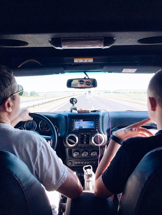 по пути в Крым на машине