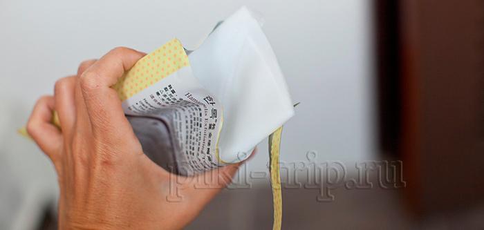 тканевые носочки внутри пакетика пропитаны сывороткой