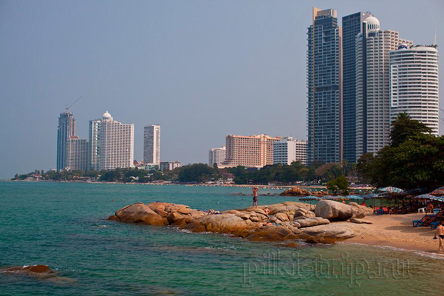 Пляж Вонгамат паттайя фото