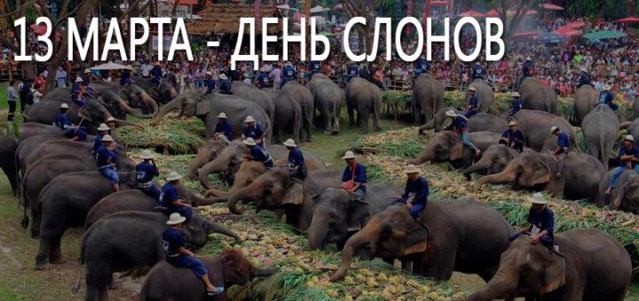 13 марта в Таиланде празднуют День Слонов