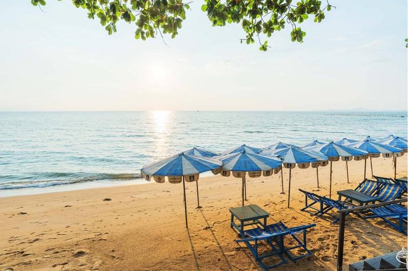 пляж у Люмпини кондо Джомтьен