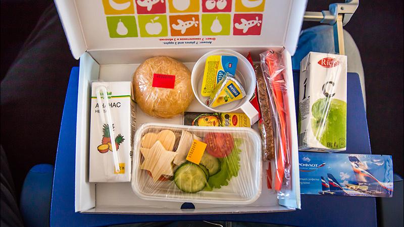еда для детей в Аэрофлоте