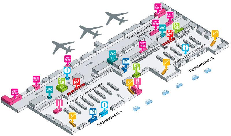 схема аэропорта Дон Муанг