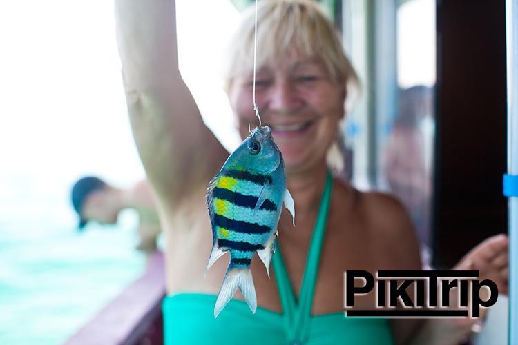 Первая пойманная рыбка
