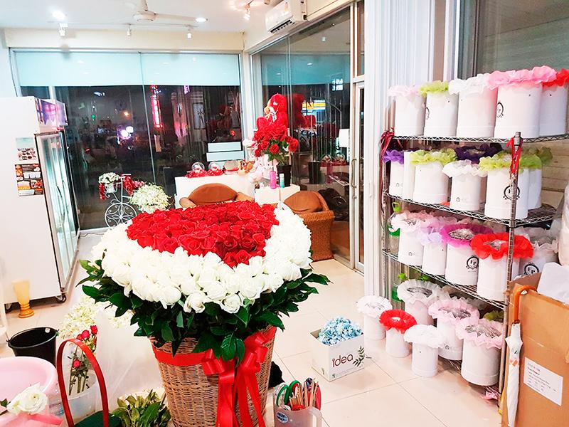 корзина роз в Паттайе