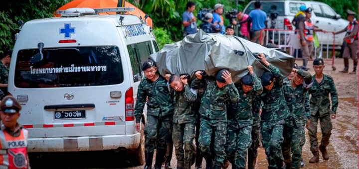 пропавшая футбольная команда в Таиланде