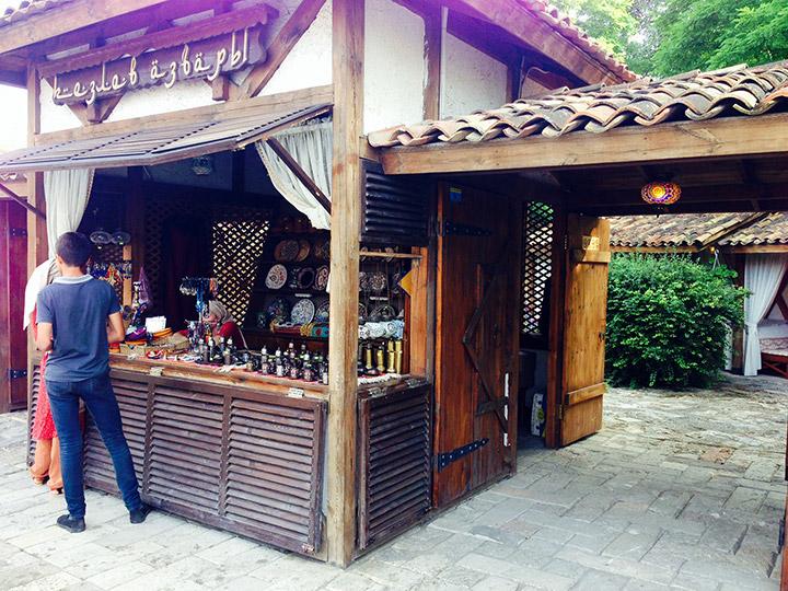 Вход в Кезлев кафе