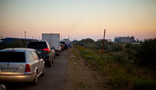 Порт Кавказ - очередь машин