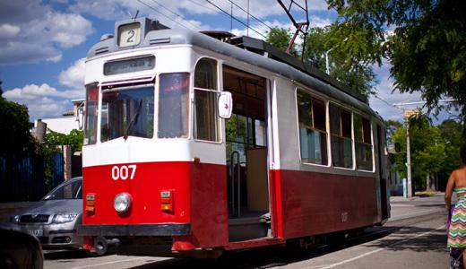 Трамвай в Евпатории фото