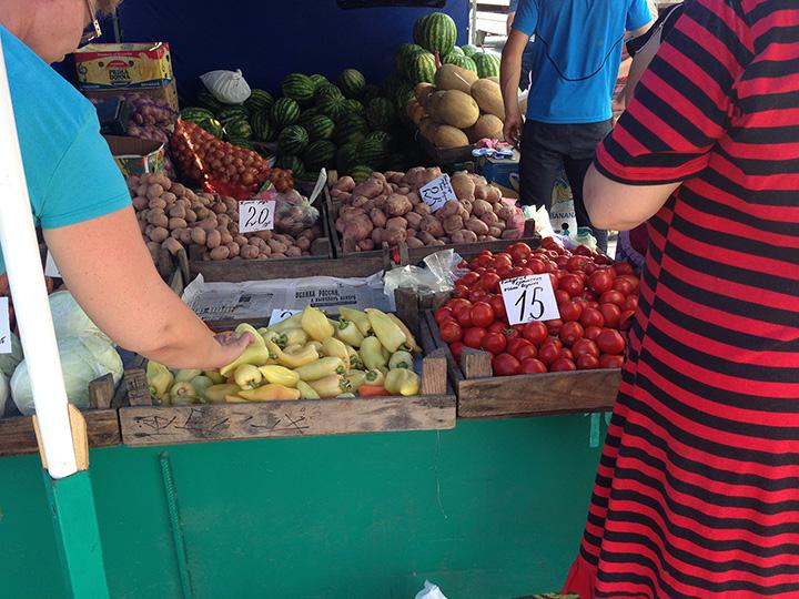 цены на еду в крыму август 2014