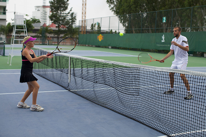 теннис для нас очень важная часть жизни - Маша с мужем на кортах Роял Клифф в паттайе